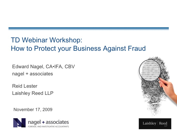 TD Webinar Workshop: How to Protect your Business Against Fraud