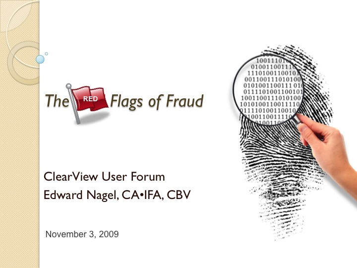 The Red Flags of Fraud