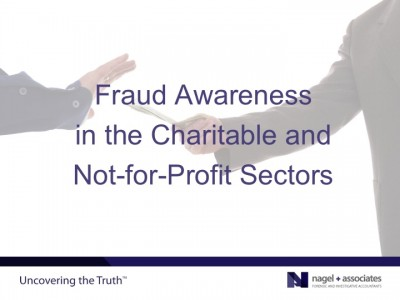 Fraud Awareness for Charities and Not-for-Profits